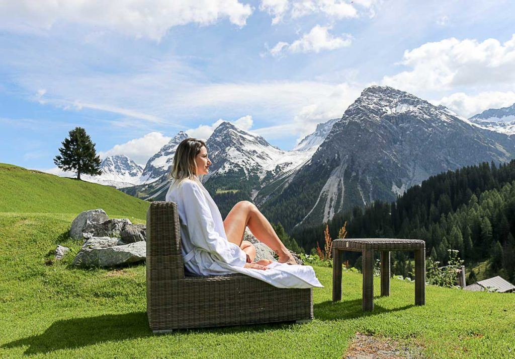 The Alpin Spa at Arosa Kulm Hotel is super relaxing and super luxurious, an experience you must have when traveling in Arosa.