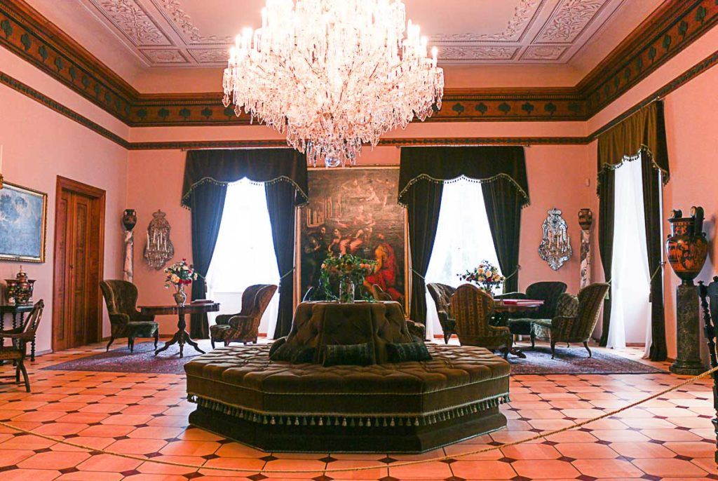 At the Hradec nad Moravici Chateau you can visit the rooms to see the original furniture and decoration.