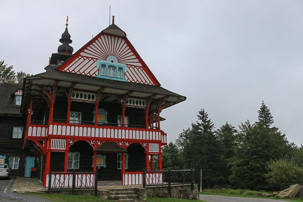 At the top of The Beskdi Mountains you can find cute folk houses, a great attraction to visit near Ostrava.