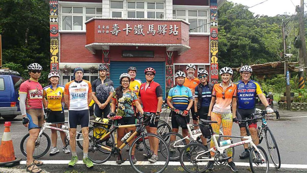 Our team at Souka Bike Station, people from different countries sharing the same dream of cycling in Taiwan.