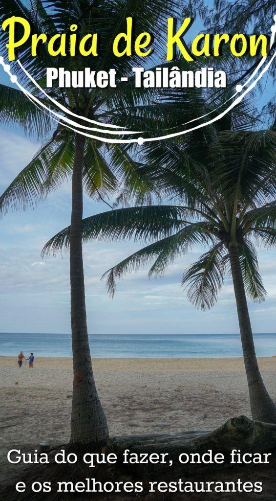 A praia de Karon é um dos melhores lugares para ficar em Phuket na Tailândia. Reunimos em um único post todas as dicas de viagem e sugestões do que fazer na Praia de Karon, desde esportes aquáticos até atividades culturais. Recomendações sobre onde ficar em Karon - Phuket, os melhores restaurantes e lugares para visitar. A Praia de Karon é perfeita para famílias, casais e para quem quer relaxar em meio a natureza. Coloque a Praia de Karon nos eu roteiro de viagem pela Tailândia e se apaixone ainda mais pela ilha de Phuket .