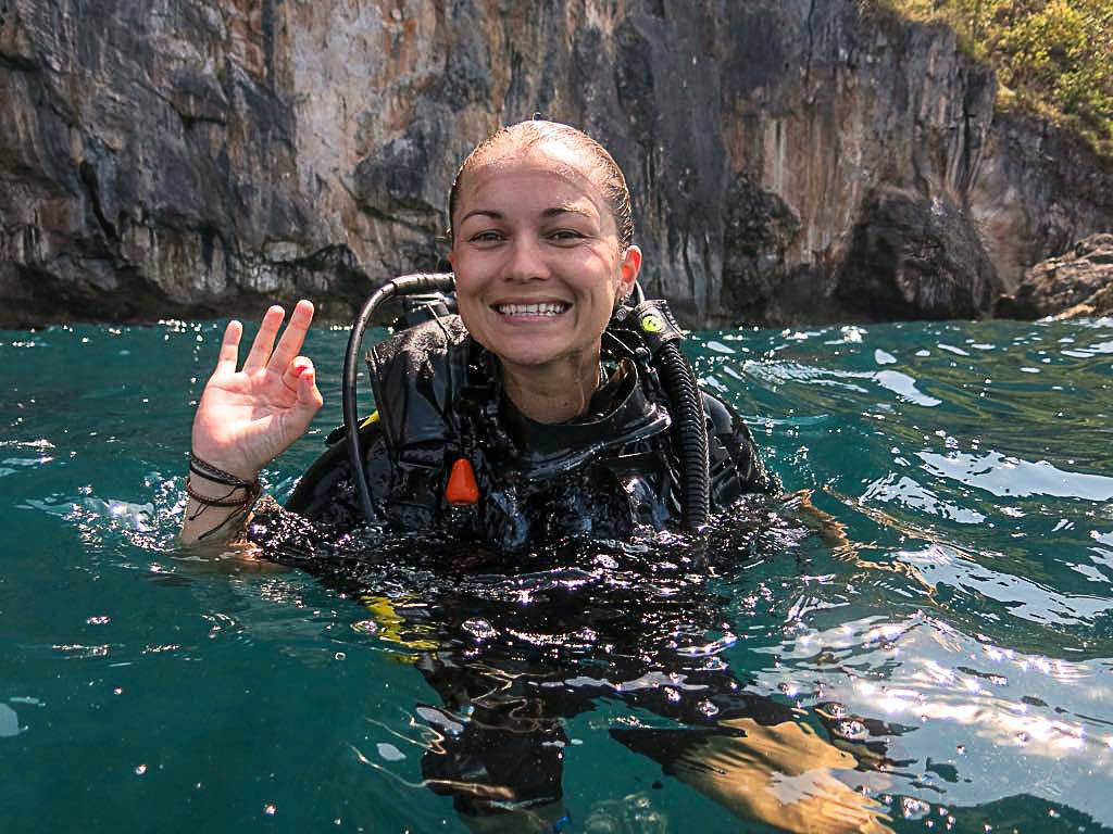 Go island hopping in Krabi and try some diving. It's easy to book a boat trip in Ao Nang, there you'll find many Suba Diving Schools.