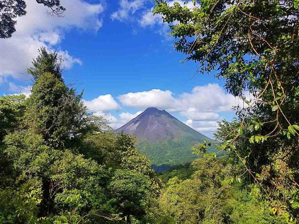 The majestic Arenal Volcano one of teh top attractions in Arenal, Costa Rica