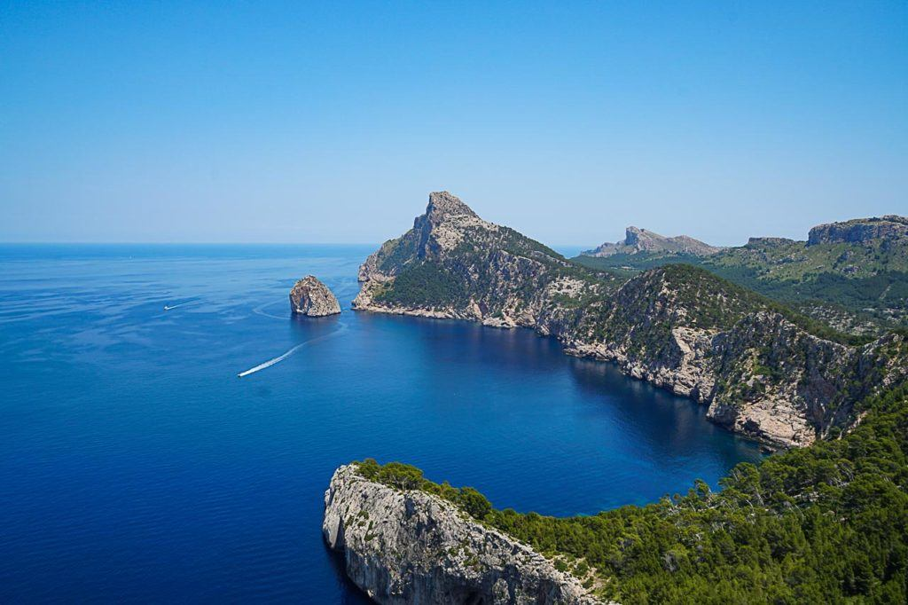 Stunning nature view near bootcamp in Spain, Mallorca, with its blue sea and warm weather.