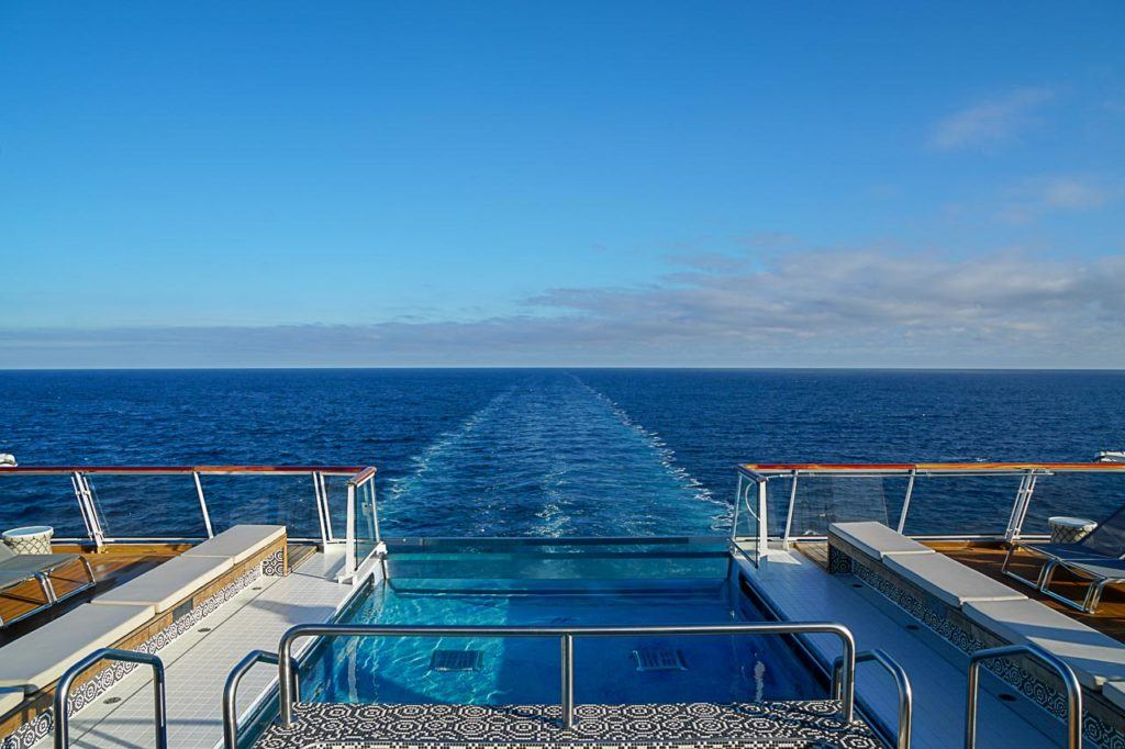 Our Viking Ocean Cruise Review wouldn't be complete without a mention to the incredible infinity pool.
