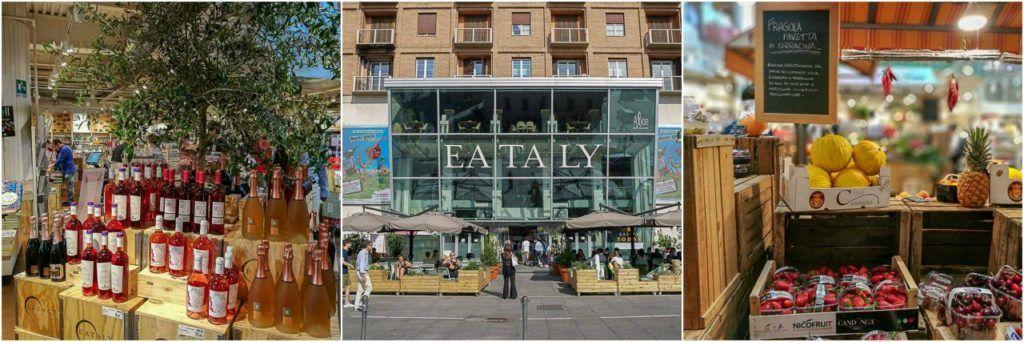 Um dos melhores lugares para comer em Milão é o Eataly, você vai passar mal de tanta comida boa.