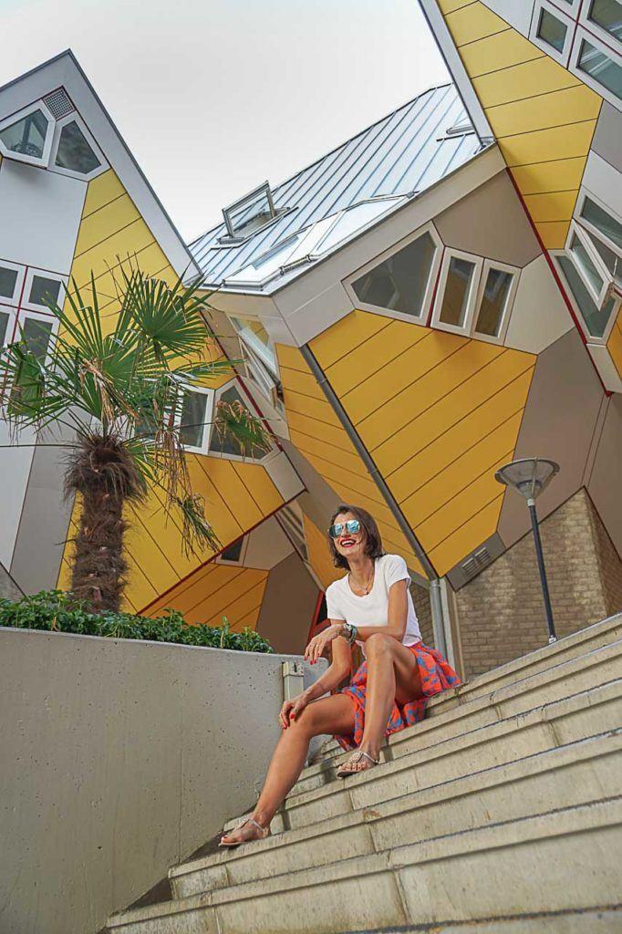 As Casas Cubos é uma das atrações mais conhecidas da cidade e também um lugar fantástico para tirar fotos em Rotterdam.
