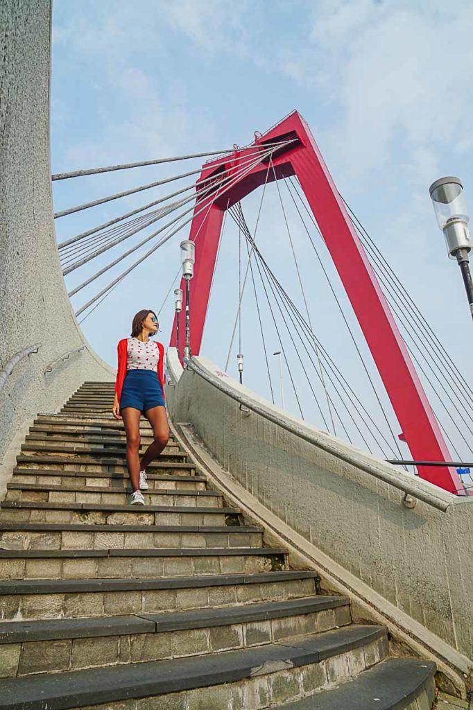 A Ponte Willems é um lugares mais legais para fotografar em Rotterdam e é pouco explorada pelos fotografos e turistas.