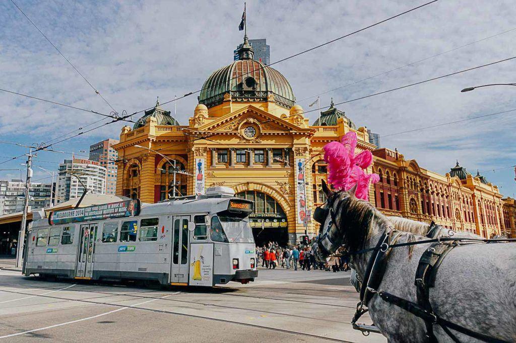 O bonde City Circle é uma maneira popular de encontrar o caminho para as principais atrações de Melbourne.