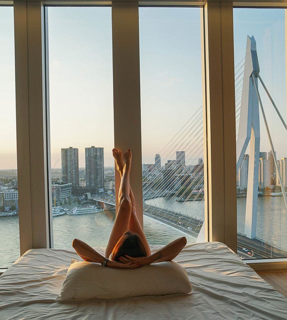 Where to stay in Rotterdam? Our suggestion is a hotel with an awesome view!