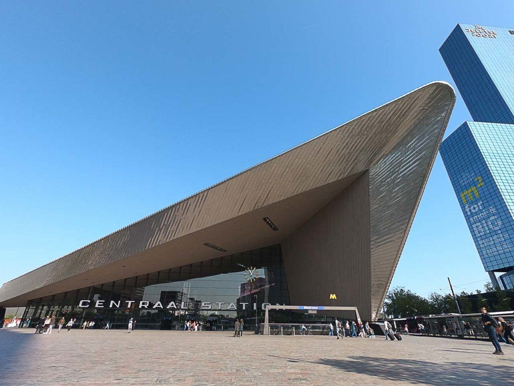 Rotterdam Central Station is the first stop of our Rotterdam one day itinerary.