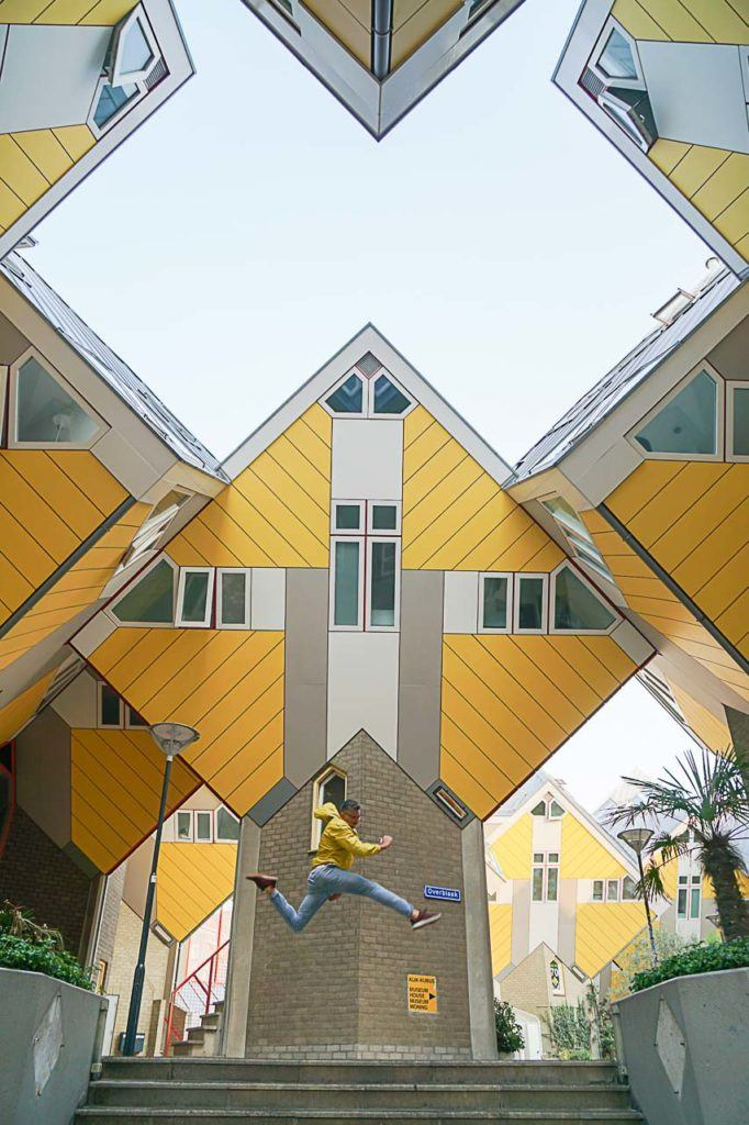Just beside the Market Hall is the Cube Houses, another top attraction in Rotterdam that you must see.
