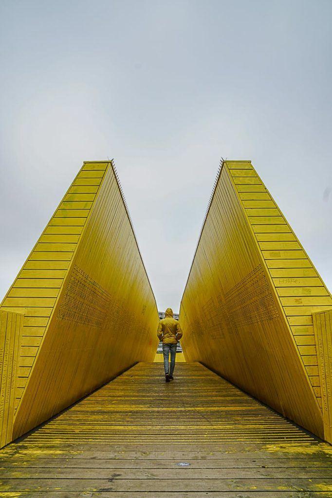 Another must do in Rotterdam is the Luchtsingel pedestrian bridge.
