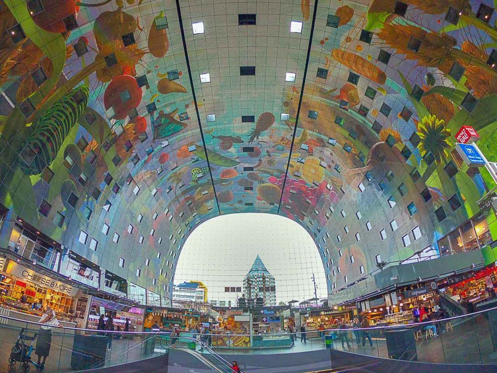 A day trip to Rotterdam is not complete without a visit to the Market Hall, it's impressive.