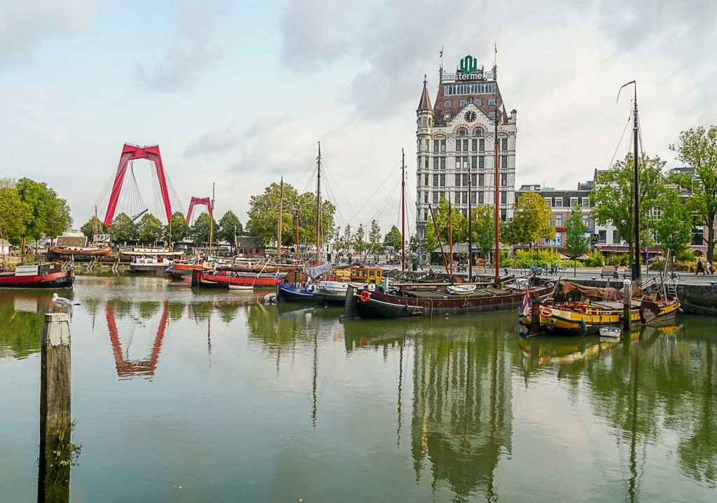 Rotterdam's Old Harbor is beautiful and packed with bars, restaurants, and attractions.