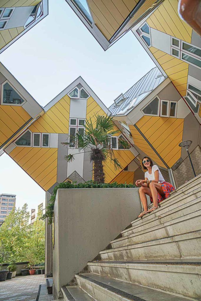The Cube Houses are one of Rotterdam top attractions, you can visit them and even sleep in one of the houses.