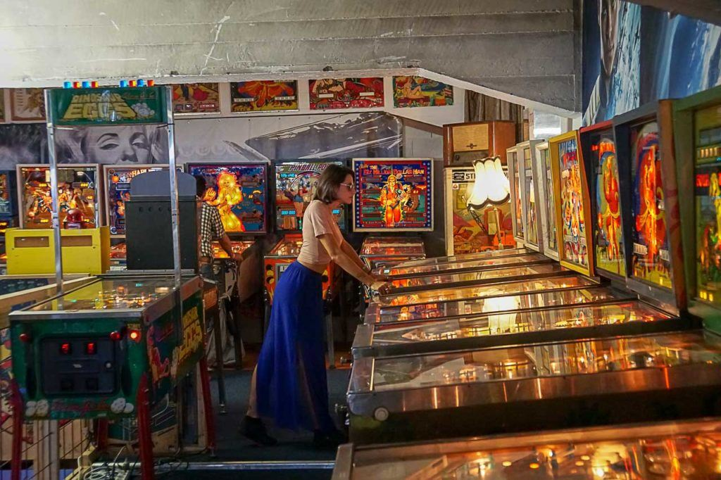 One of our favorite places in Rotterdam is the Dutch Pinball Museum. So much fun!