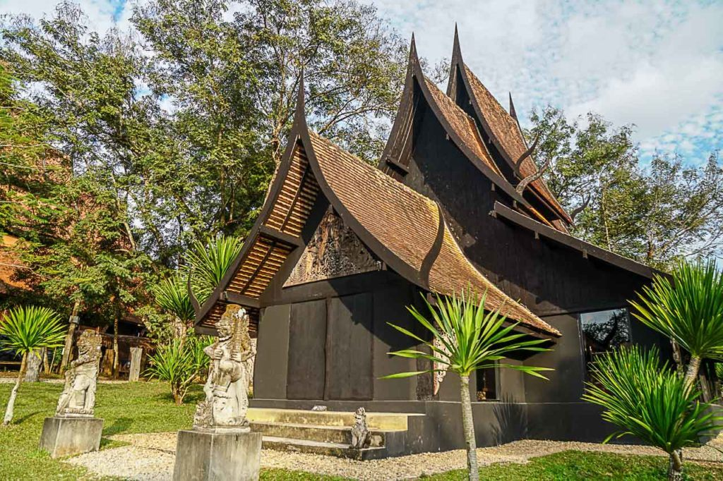 Chiang Rai Black House or Baan Dam is a complex of many building housing interesting artefacts.