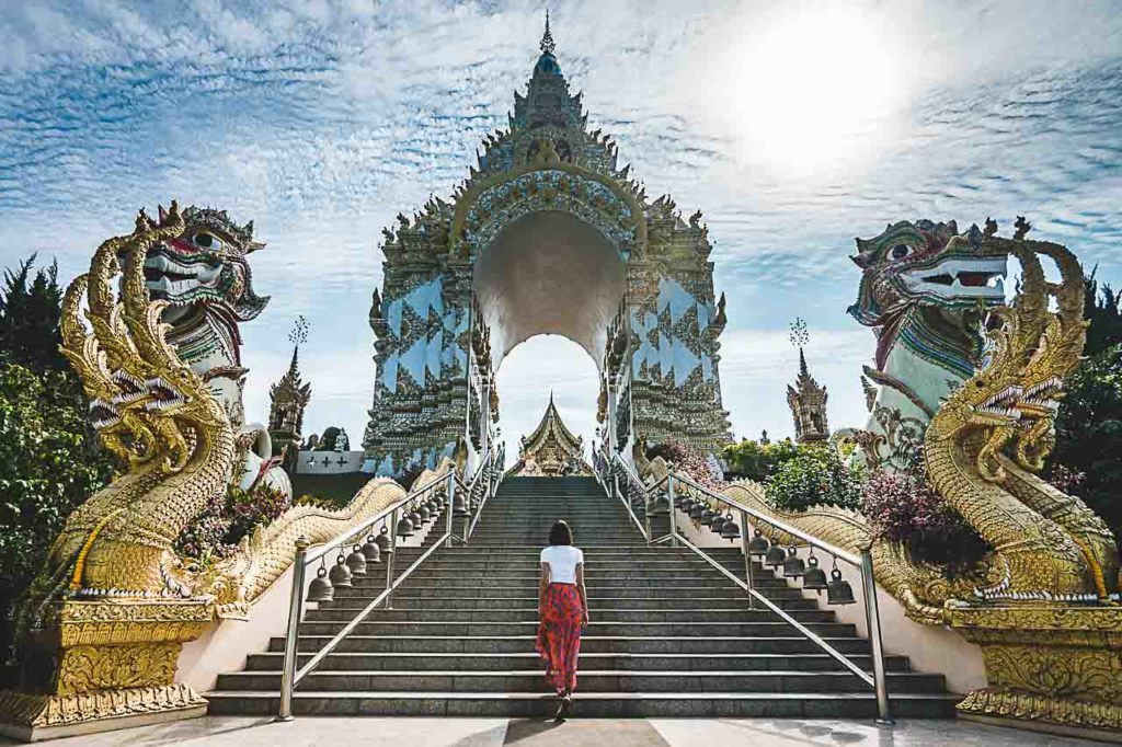 The Wat Sang Kaew Phothiyan is one of the most beautiful temples in Chiang Rai.