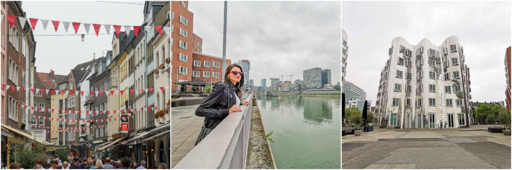 In Dusseldorf we visited the Carlsplatz market, the old town and the Ghery buildings.