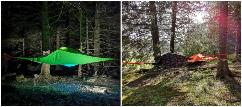 Sleep under the stars in Alpe Cimbra.