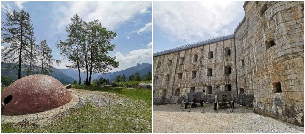 Things to discover in Alpa Cimbre as the history of Fort Belvedere.