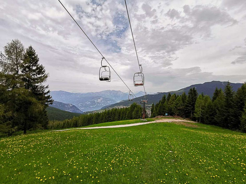hiking is one of the to things to do in Alpe Cimbra summer.
