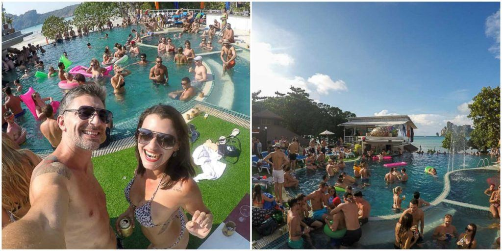 pool party in Phi Phi Island