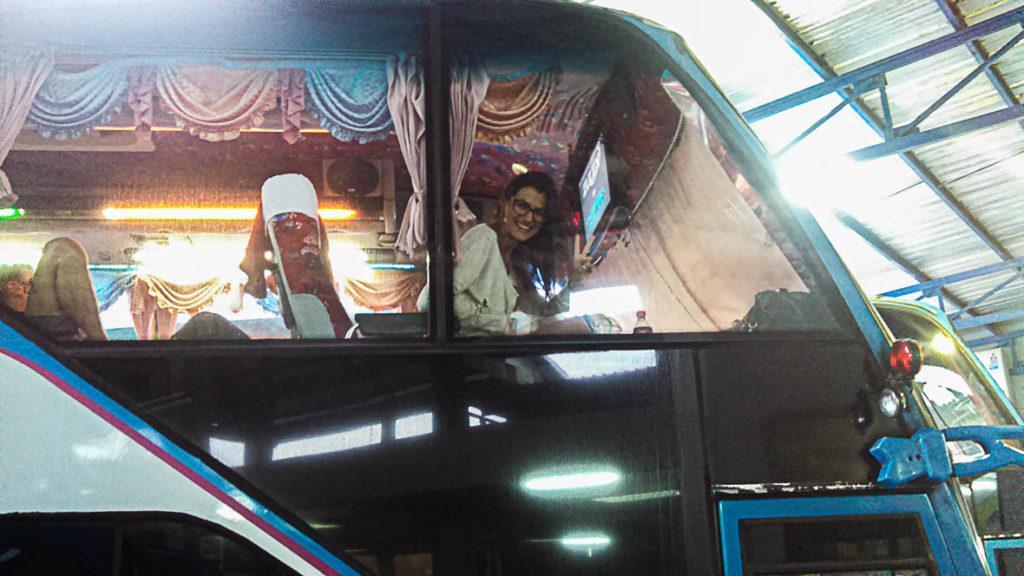 woman on bus to Koh Phi Phi Island