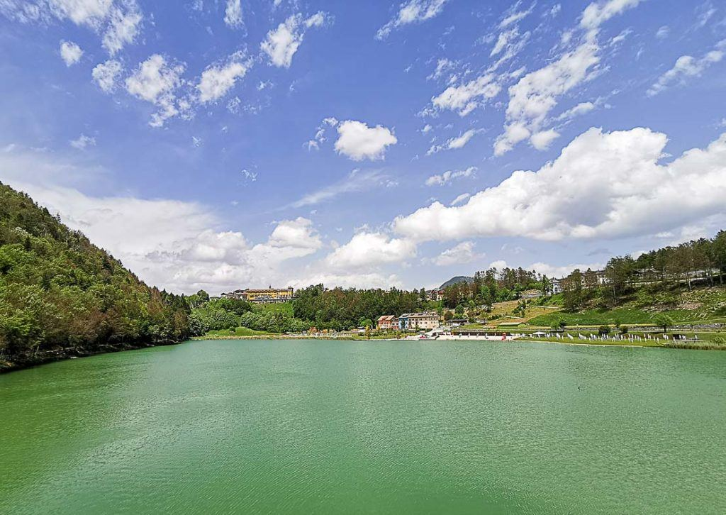 View of Lake Lavarone in Alpe Cimbra