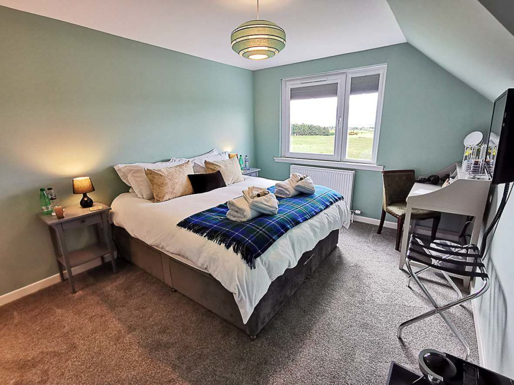 Double room at HeartSeed House Bed and Breakfast in Dornoch, Scotland.