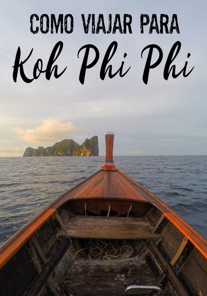 Super guia de como viajar para Koh Phi Phi de qualquer lugar na Tailândia. Dicas de como chegar em Phi Phi de avião, ônibus, trem, ferry ou lancha. As melhores conexões, horários, onde comprar as passagens online e como planejar sua viagem a Koh Phi Phi. #Viagens #TailândiaViagem #PhiPhi #PhiPhiilha