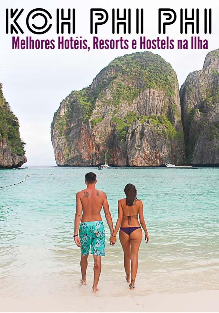 Uma lista completa com os melhores hotéis, resorts e hostels em Koh Phi Phi na Tailândia. Dicas sobre como escolher e reservar o melhor hotel em Phi Phi para todos os bolsos, desde hotéis de luxo, resorts com praias privadas até hotéis com bom preço e albergues bem baratinhos. Além de recomendações de onde ficar em Phi Phi listamos hotéis que são bons para famílias, casais e para os festeiros de plantão. #phiphi #tailandia #phiphihotel #tailandiaviagem #phiphiviagem