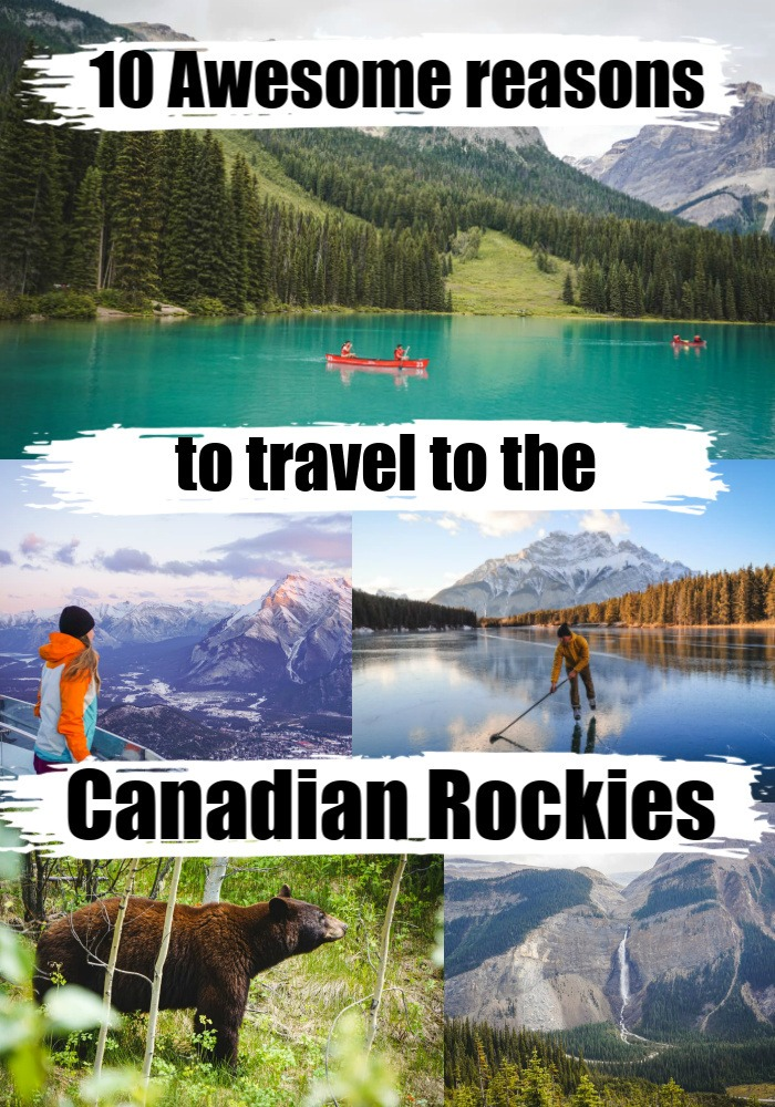10 Awesome things to do in the Canadian Rockies. Activities, tours, and places to visit in the Canadian Rockies National Parks and around. Travel tips for visiting the famous lakes in the Rockies and lesser-known towns, also suggestions of where to stay in Alberta and Britsh Columbia. #canadianrockiesroadtrip #canadianrockiestravel #canadianrockiesitinerary