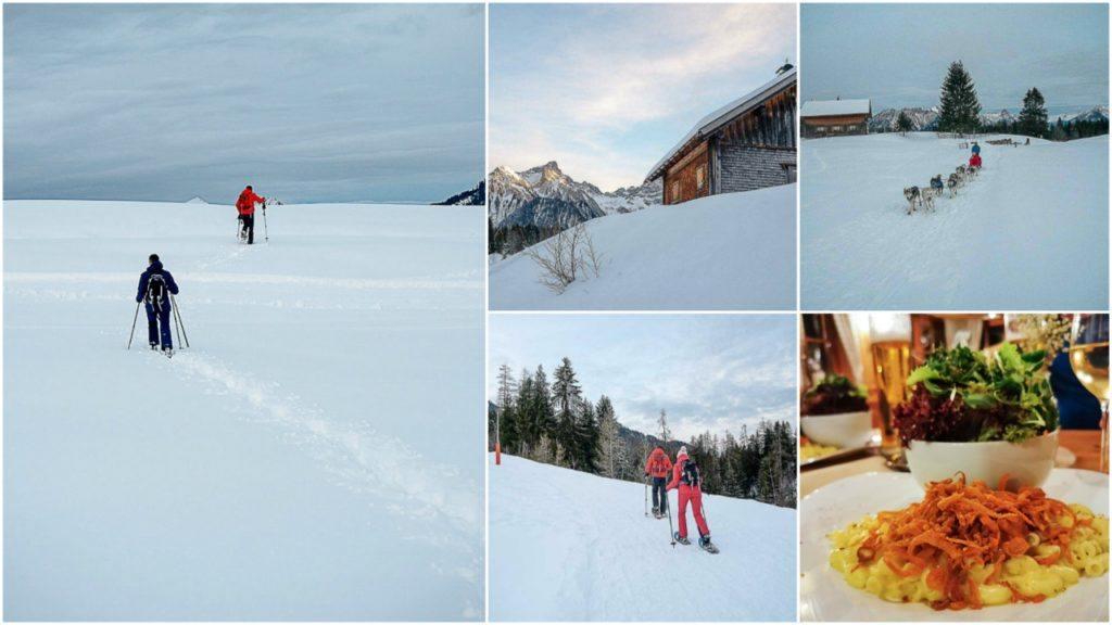 Você pode fazer caminhadas na neve em Brandnertal com a empresa BergAKTIV.