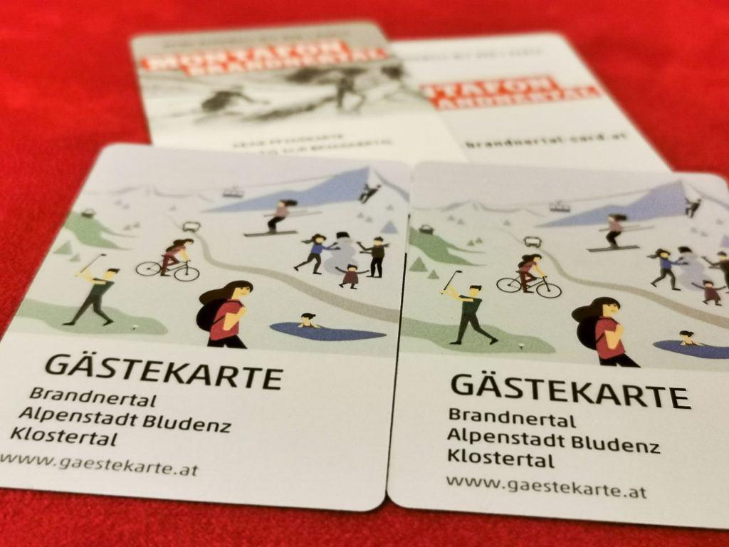 Você precisará do cartão Brandnertal e do passe de esqui Brandnertal para sua viagem de esqui em Vorarlberg.
