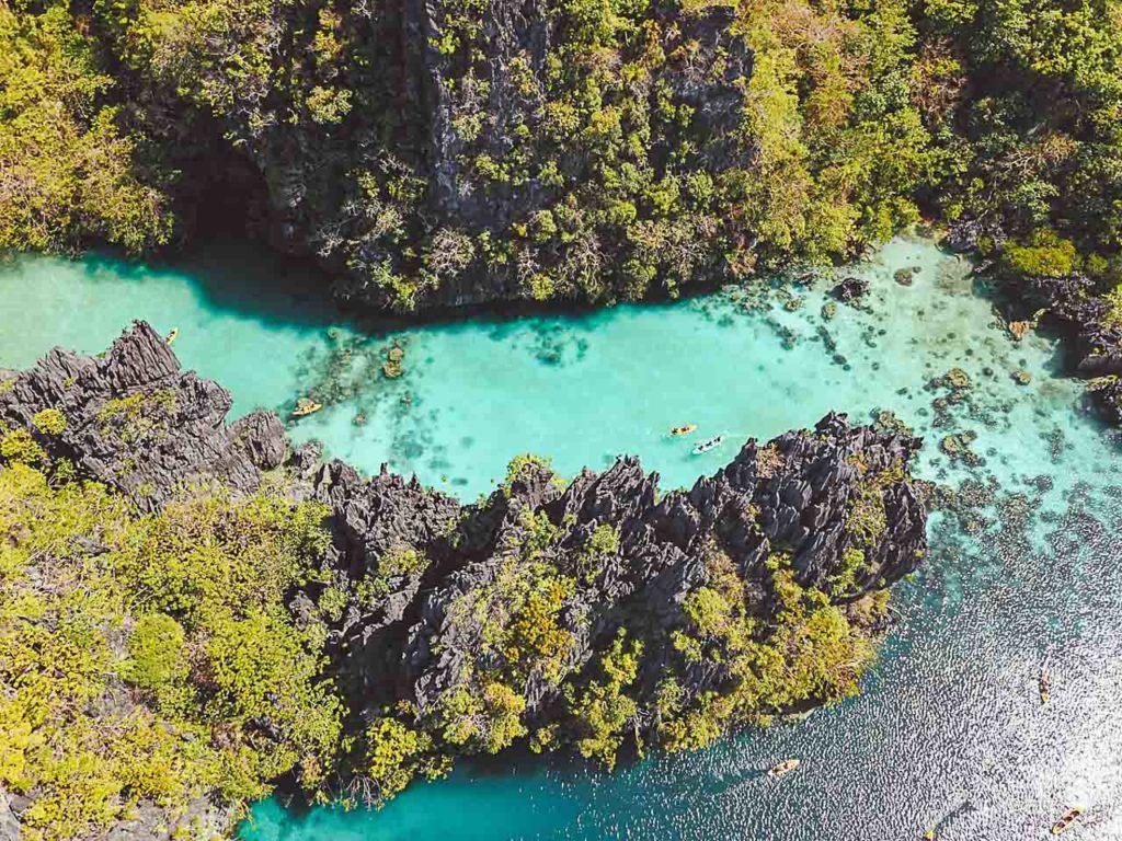 The famous stunning Big Lagoon in El Nido, Palawan, Philippines.