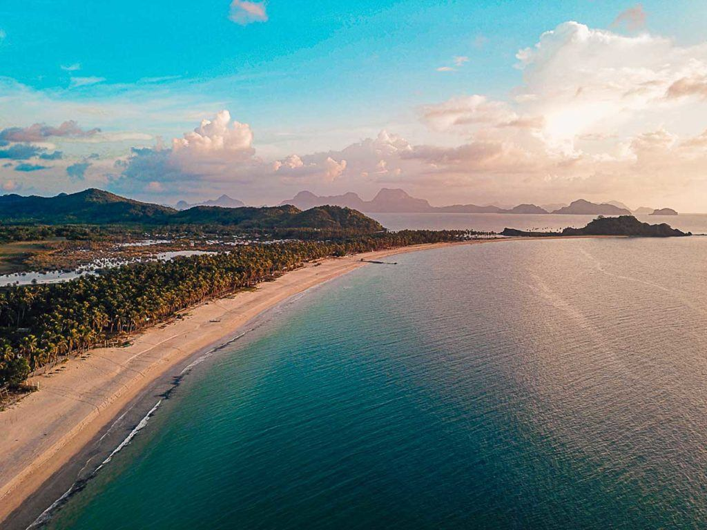 In doubt of Coron or El Nido? Nacpan beach in El Nido is considered the most beautiful beach in Asia.