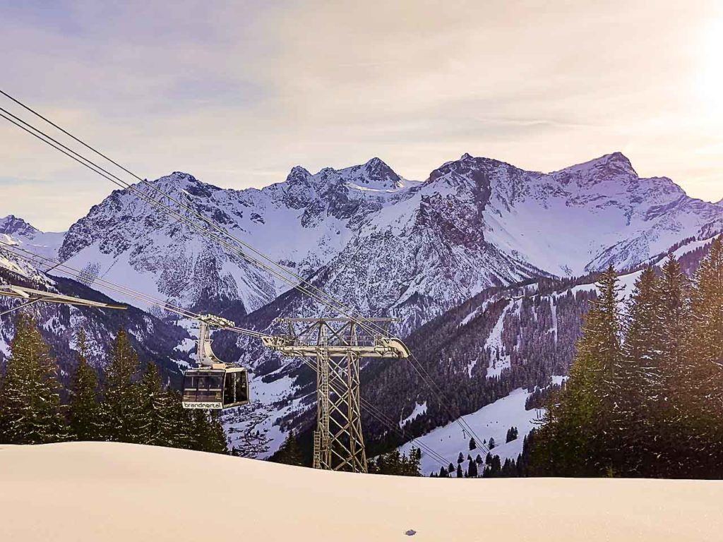 You can't miss a ride on the Panorama Brandnertal, even if you are afraid of heights.