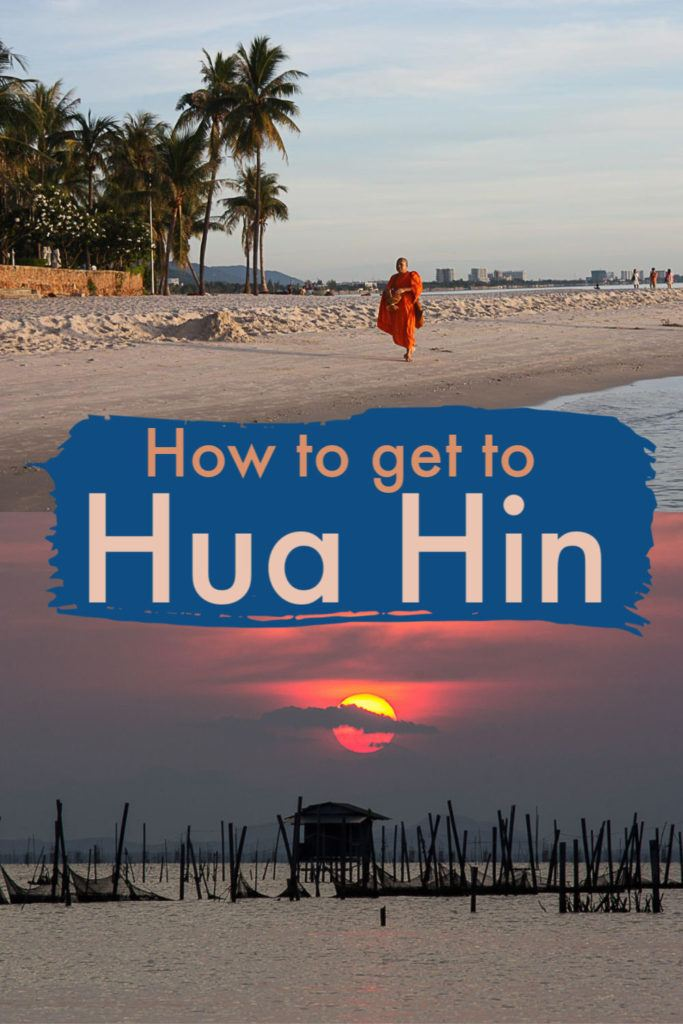 Travel tips on how to get to Hua Hin from Bangkok and other major destinations in Thailand. We listed the most common travel routes to Hua Hin with prices and timetables. Plus, how to search and book ferries, busses, trains, and busses to Hua Hin. All you need to know to have a hassle-free holiday in Hua Hin and around Thailand. #thailand #huahinthailand #huahintravel #huahintraveltips