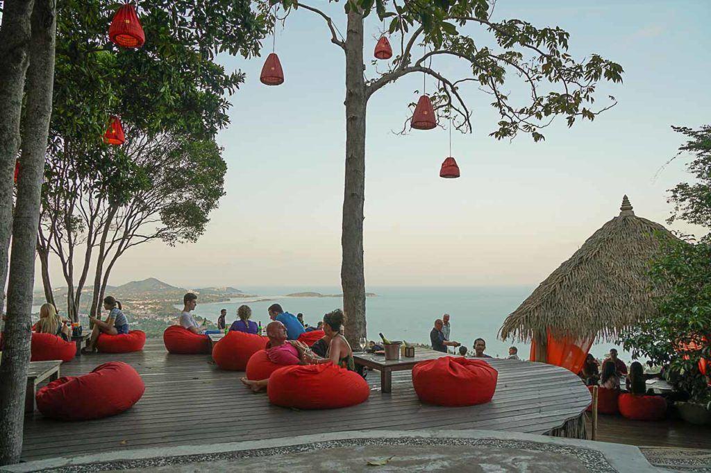 A bar in Koh Samui near the beach.