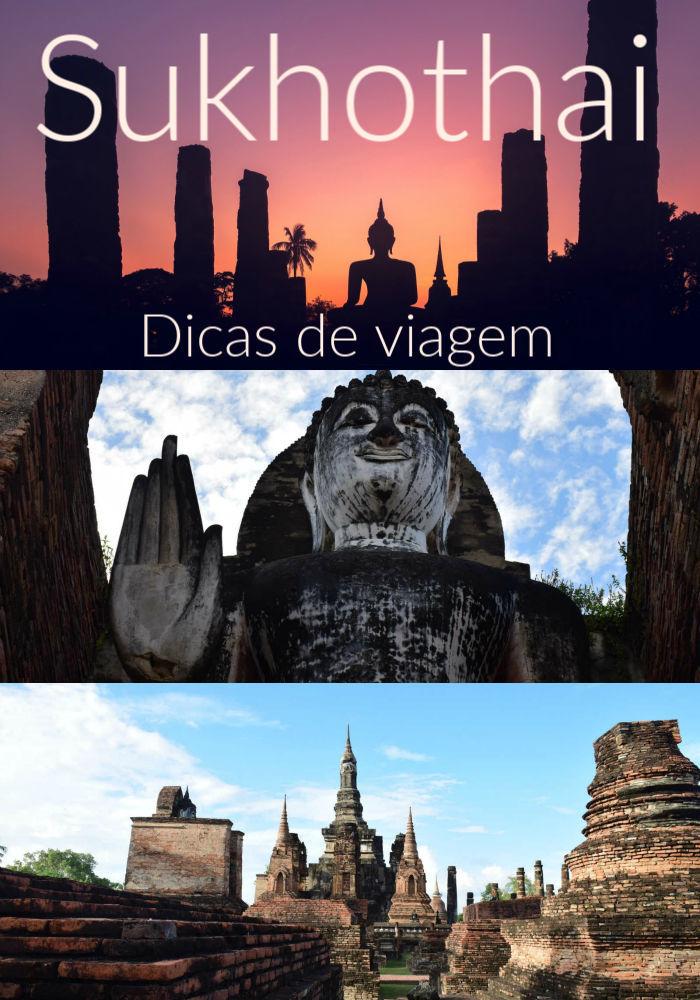 Super guia de Sukhothai - Tailândia. Dicas de como visitar as atrações e o que fazer em Sukhothai, os templos mais bonitos, como explorar o Parque Histórico de Sukhothai e os melhores passeios locais. Tem também recomendações sobre onde ficar em Sukhothai, com hotéis e pousadas, e dicas de como viajar para Sukhothai e andar por lá. #sukhothaitailandia #parquehistoricoukhothai #sukhothaihotel