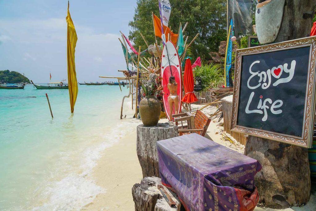 Koh Lipe's beautiful beach and relaxing vibe.