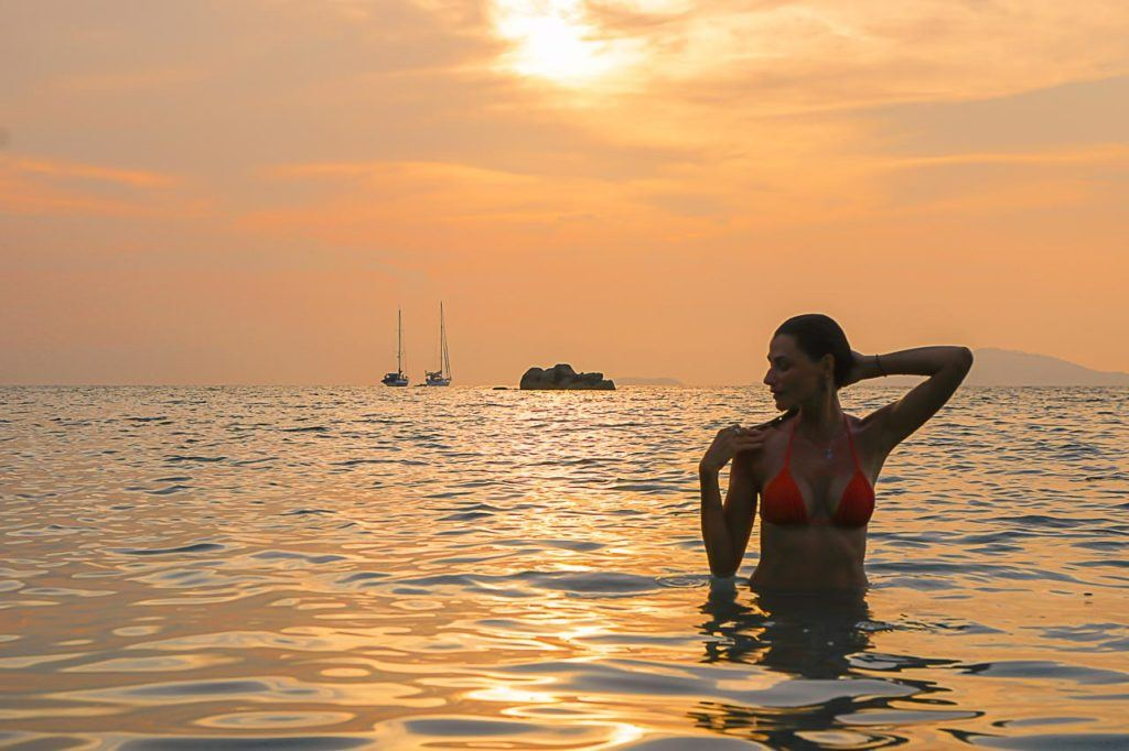 Going to the Sunset Beach in Koh Lipe is one of the best things to do in Koh Lipe.