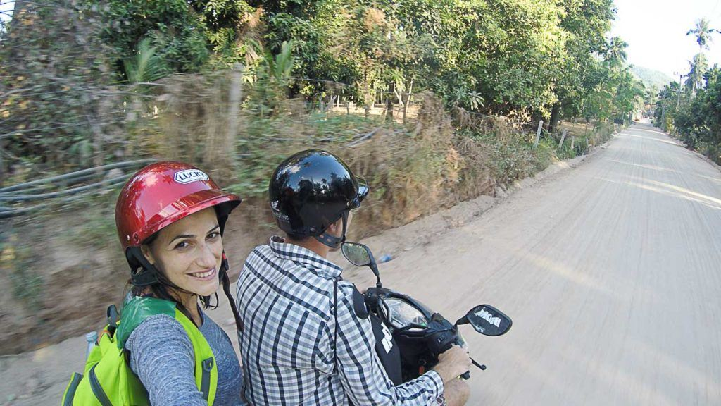 Renting a motorbike is the best way to get around Koh Tao.