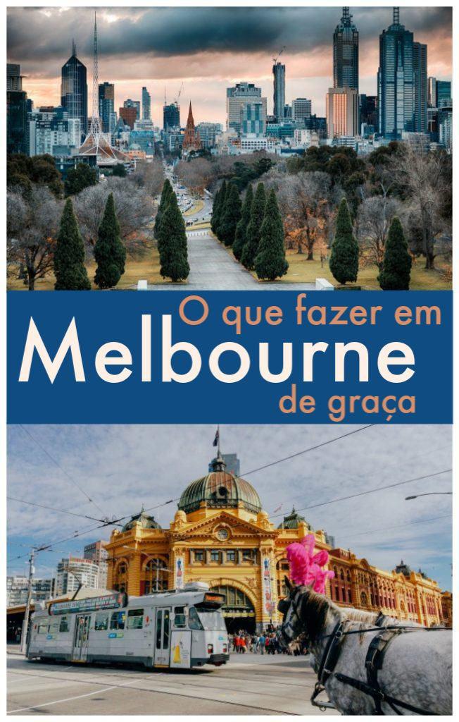 PIN: As melhores atividades gratuitas em Melbourne, Austrália. Dicas de viagem e o que fazer em Melbourne de graça. Como explorar o melhor da cidade economizando seu dinheiro, as atrações em Melbourne sem custo ou baratas, os melhores parques e como reservar hotéis com bom preços. #melbourne #australia #dicasmelbourne