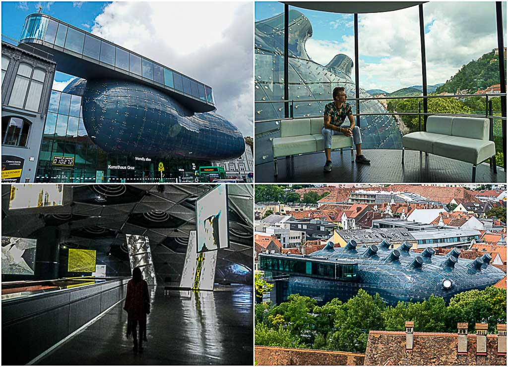 The Kunsthaus Graz is an impressive museum in every aspect. It is also known as the Friendly Alien (and it talks!).