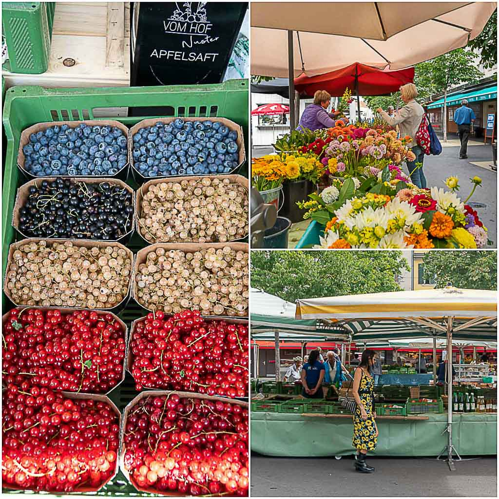 When you travel to Graz, make sure to smell the fresh fruits and flowers at a farmer's market like Kaiser-Josef Market.