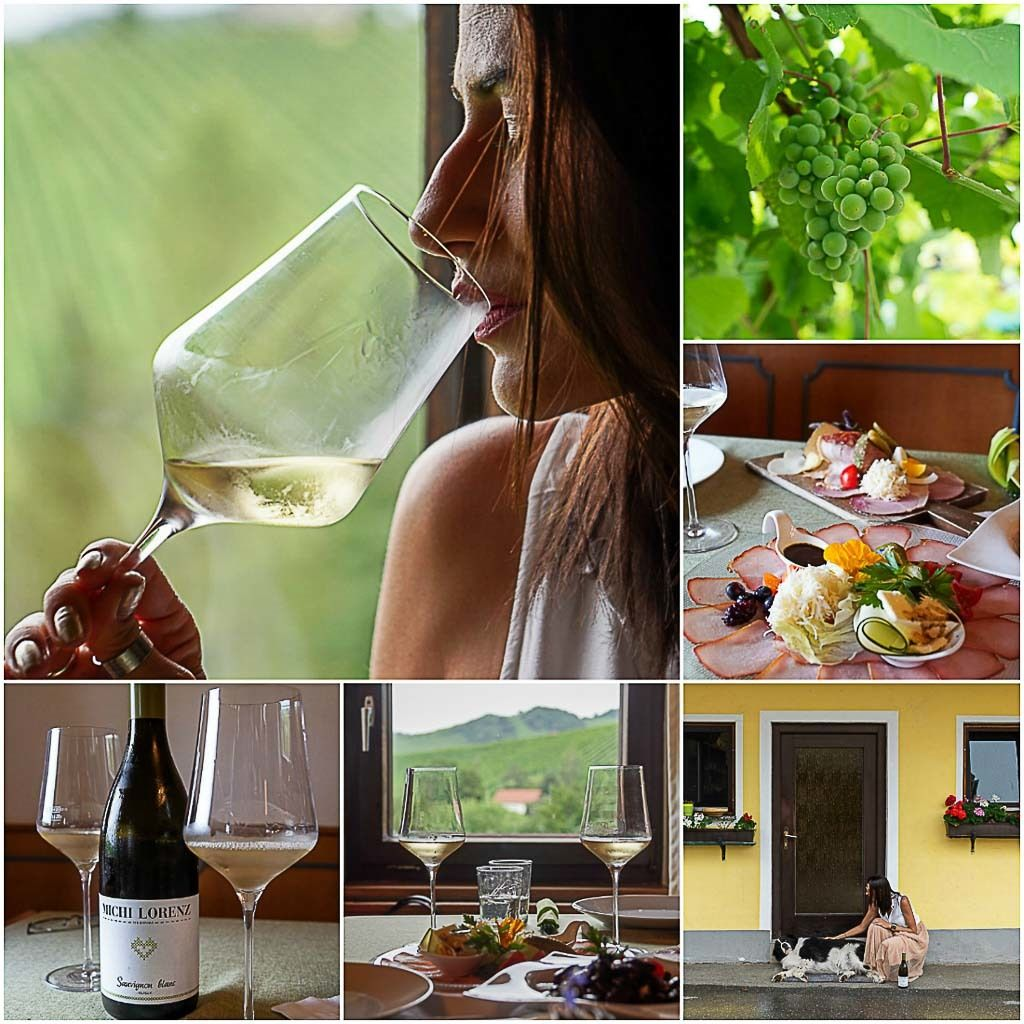 On your tour in the South Styrian Wine Road, stop at Weingut Michi Lorenz and have a proper Buschenschank experience.