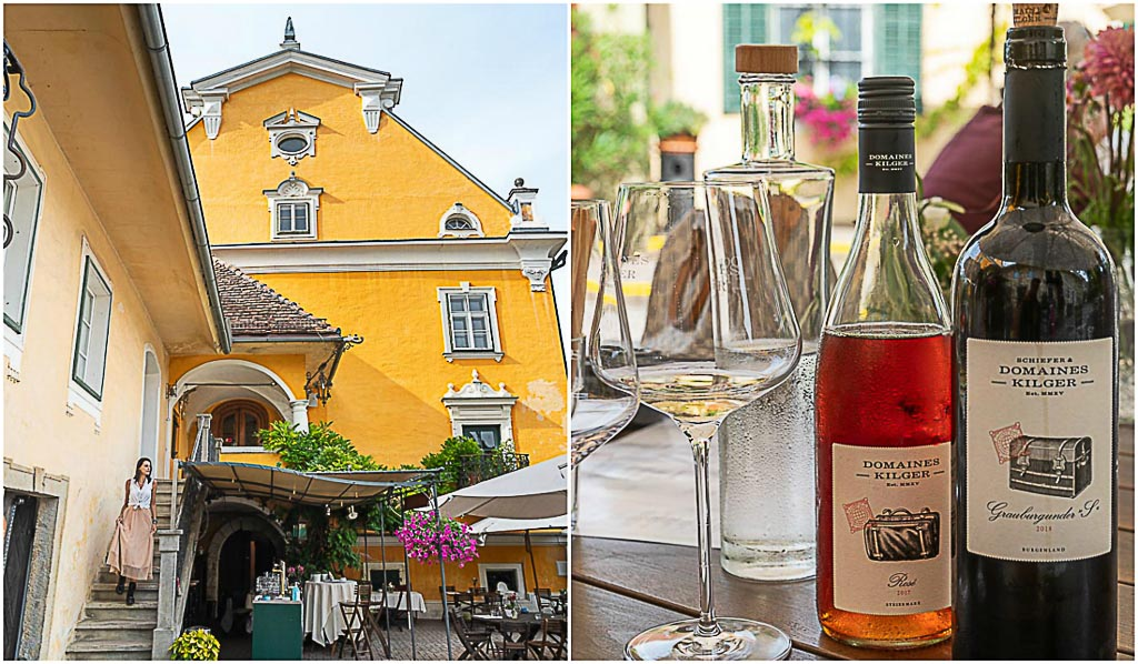 Go for a wine tasting at Schloss Gamlitz, a 17th-century castle with a baroque facade and a Mediterranean courtyard outside Graz.